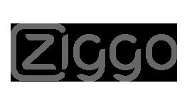 Premium Merk Ziggo Logo Samenwerking BigFish Animatiestudio grijs